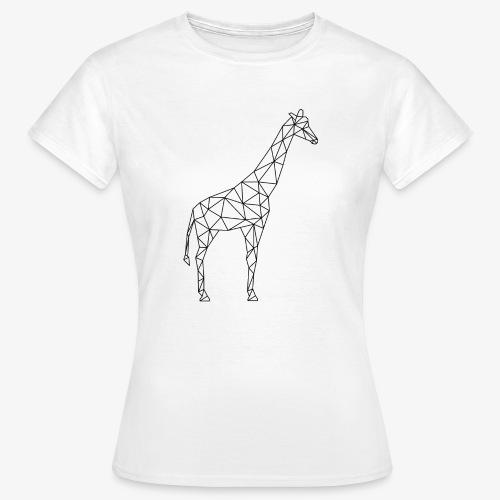 Giraffe Geometrisch schwarz - Frauen T-Shirt