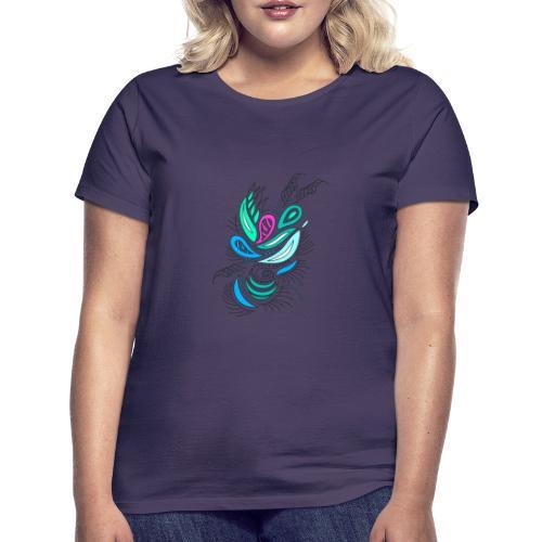 astratto foglie multicolore - Maglietta da donna