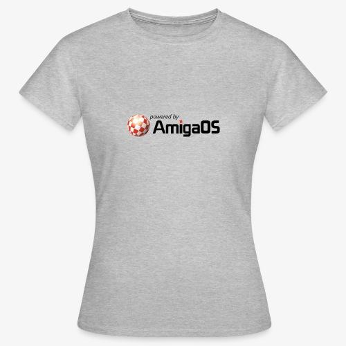 PoweredByAmigaOS Black - Women's T-Shirt
