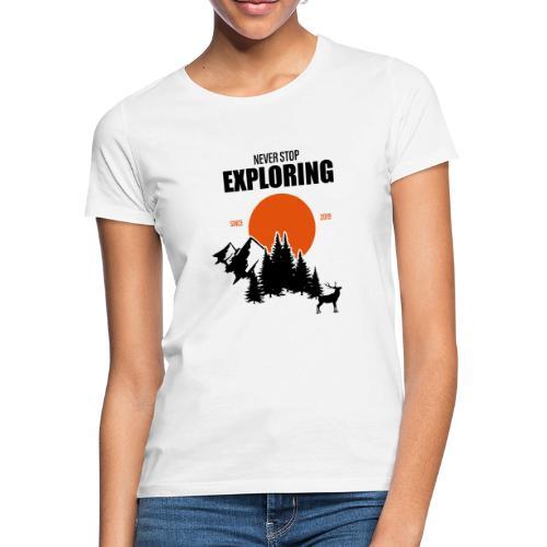 NEVER STOP EXPLORING - Maglietta da donna