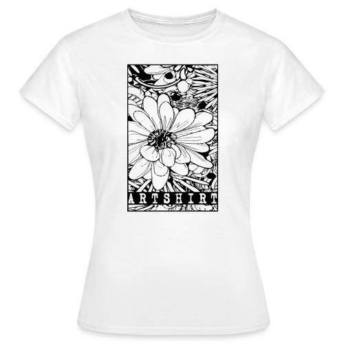 bloem motief artshirt - Vrouwen T-shirt