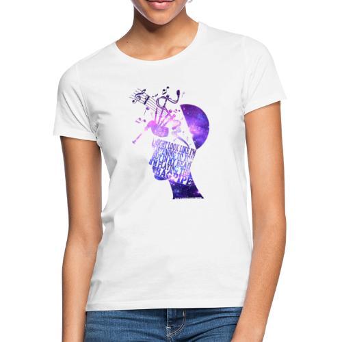 Bagpipe in my Head (Galaxie) - Frauen T-Shirt