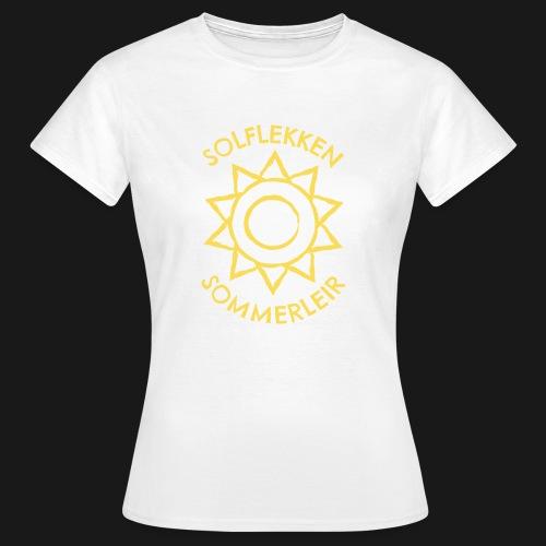 Solflekken Sommerleir - T-skjorte for kvinner