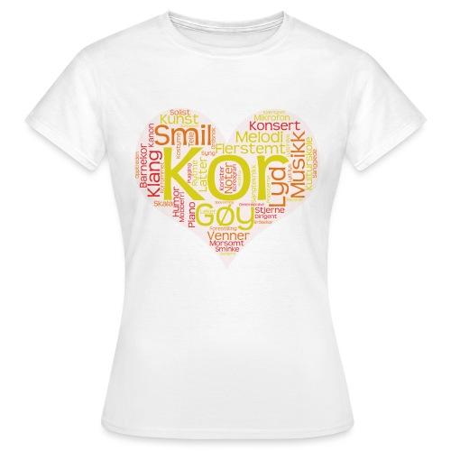 Barnekoret-4000 - T-skjorte for kvinner