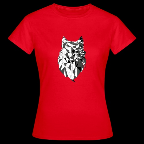 Polygoon wolf - Vrouwen T-shirt