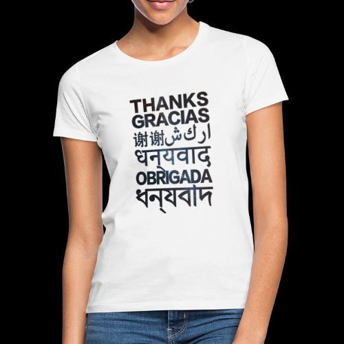 THANKS - Camiseta mujer