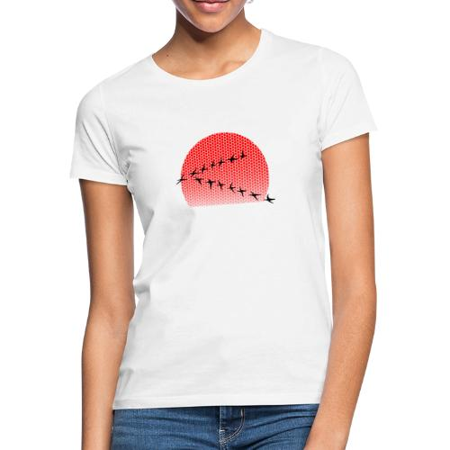 Dots Sonnenuntergang - Frauen T-Shirt