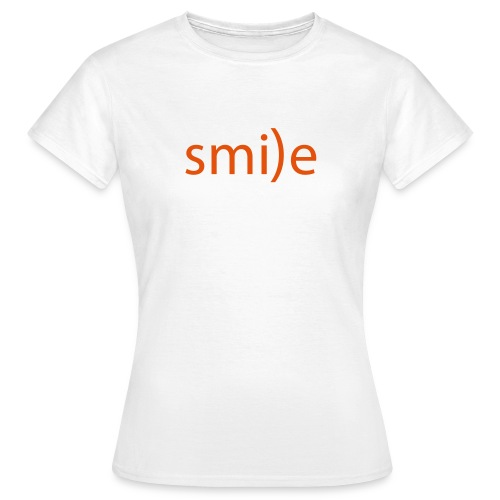 smile Emoticon lächeln lachen Optimist positiv yes - Women's T-Shirt