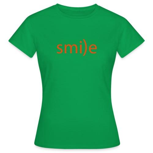 smile Emoticon lächeln lachen Optimist positiv yes - Women's T-Shirt