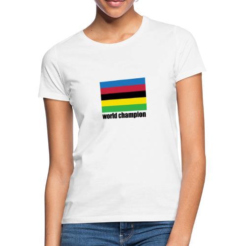 world champion cycling stripes - Vrouwen T-shirt
