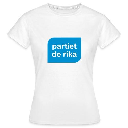 Logo blå - T-shirt dam