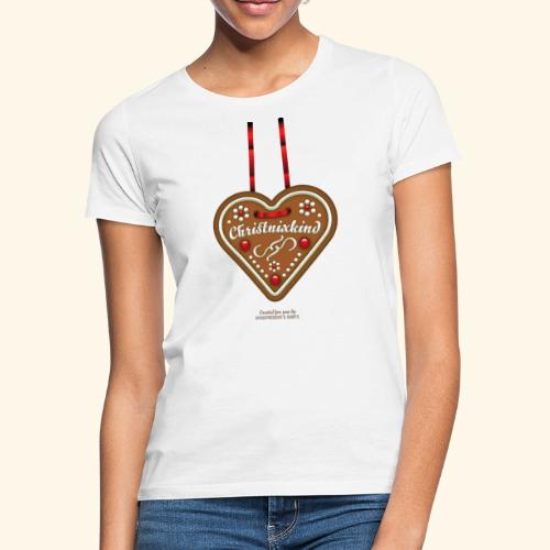 Weihnachts T Shirt Christnixkind Lebkuchenherz - Frauen T-Shirt