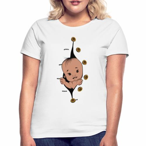 Design 1 baby without smile buttons right - T-shirt Femme