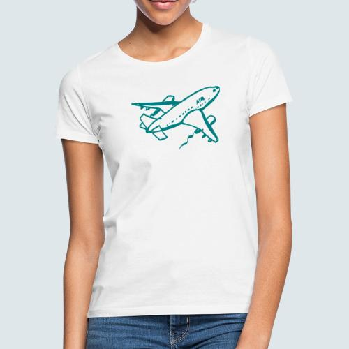 Flugzeug Illustration - Frauen T-Shirt