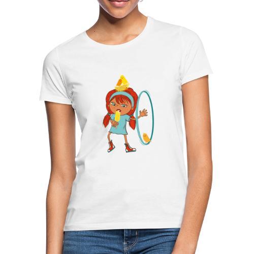 Happy Girl mit Eis, Vögeln und HulaHoop - Frauen T-Shirt