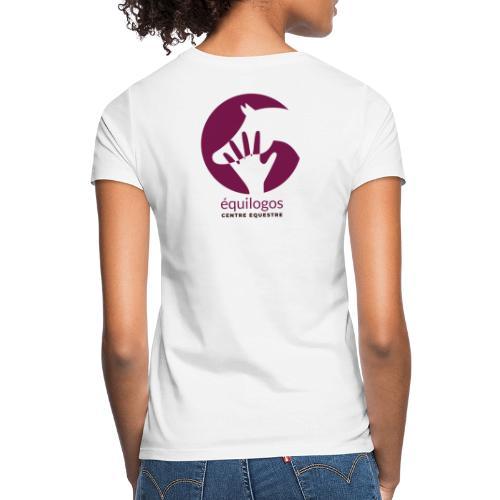 Logo Equilogos centre équestre noir - T-shirt Femme