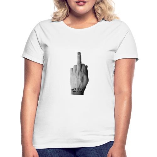 Heavy Metal middle finger - Naisten t-paita