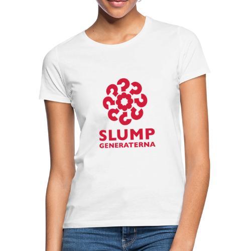Slumpgeneraterna, logo röd - T-shirt dam