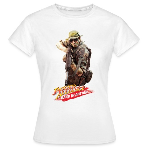logo jaggedalliance backinaction final - Frauen T-Shirt