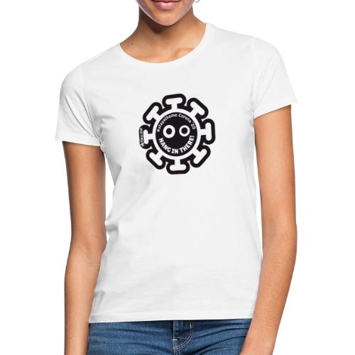 Corona Virus #stayathome black - Camiseta mujer
