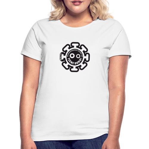 Corona Virus #rimaneteacasa nero - Camiseta mujer