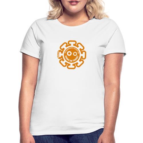 Corona Virus #stayathome orange - Camiseta mujer