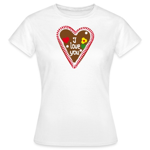 Lebkuchenherz I love you - Frauen T-Shirt