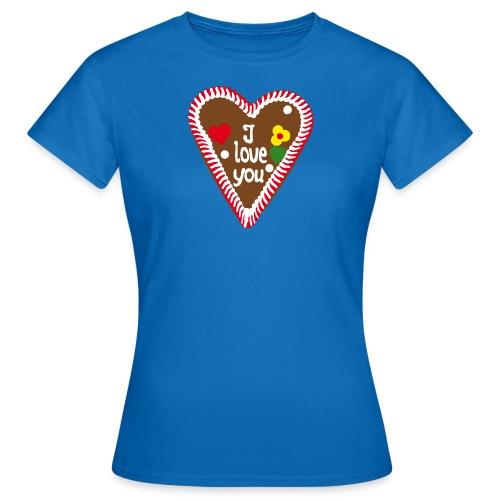 Lebkuchenherz I love you - Frauen T-Shirt
