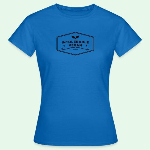 Intolerable Vegan Logo - Black - T-shirt dam