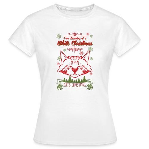 Weihnachtskatze - Frauen T-Shirt