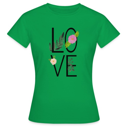 Love Sign with flowers - Women's T-Shirt