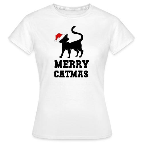 Merry Catmas - Silhouette - Frauen T-Shirt
