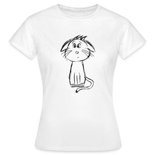 Kissa Kissanpentu musta scribblesirii - Naisten t-paita