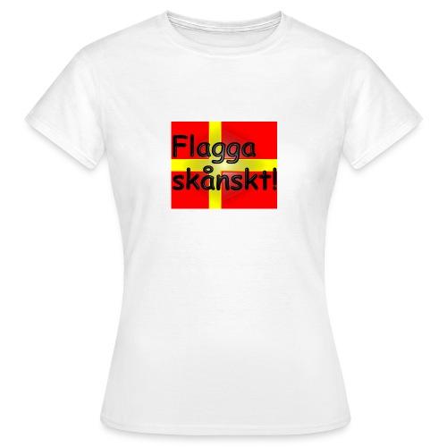 Flagga skånskt! - T-shirt dam