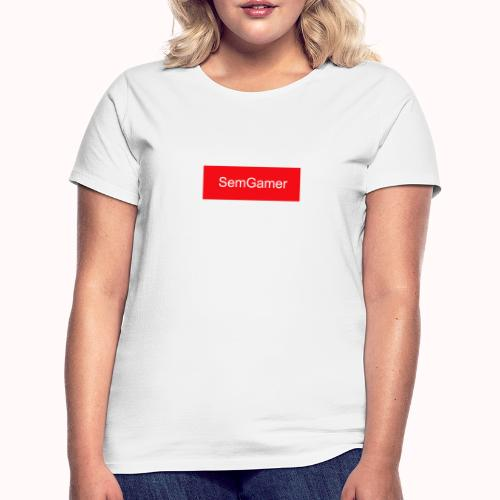 SemGamer in rood vak - Vrouwen T-shirt