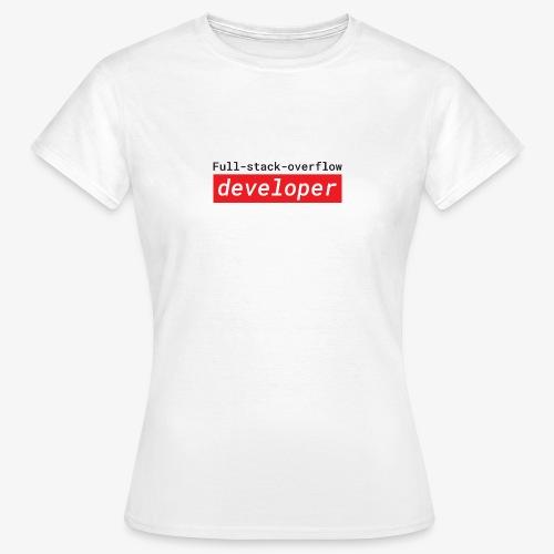 Full stack overflow developer | programmer jokes - Women's T-Shirt