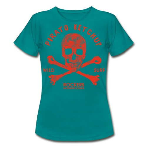 Pirato Ketchup Red Skull - Women's T-Shirt