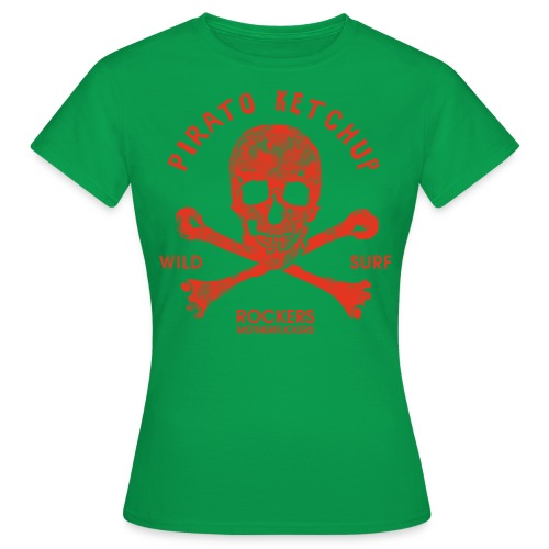 Pirato Ketchup Red Skull - Women's T-Shirt