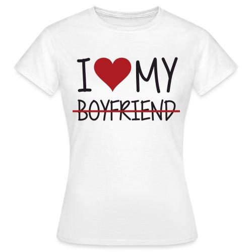I love my boy - Dame-T-shirt