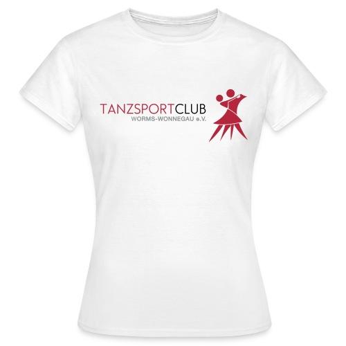 (Vector) TSC Worms Wonnegau Logo mit Schriftzug - Frauen T-Shirt