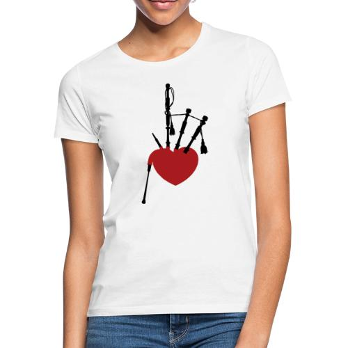 A Pipers Heart (dunkel) - Frauen T-Shirt