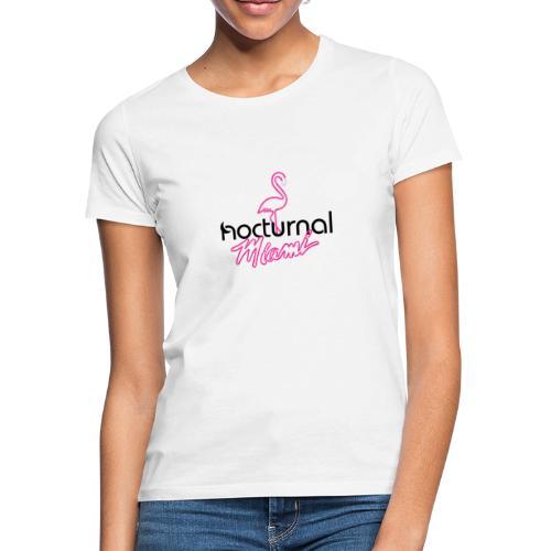 Nocturnal Miami Flamingo black - Women's T-Shirt