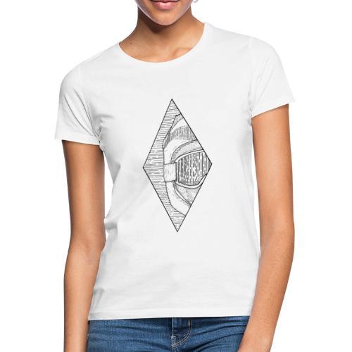 Full face mountain biker line drawing - Women's T-Shirt