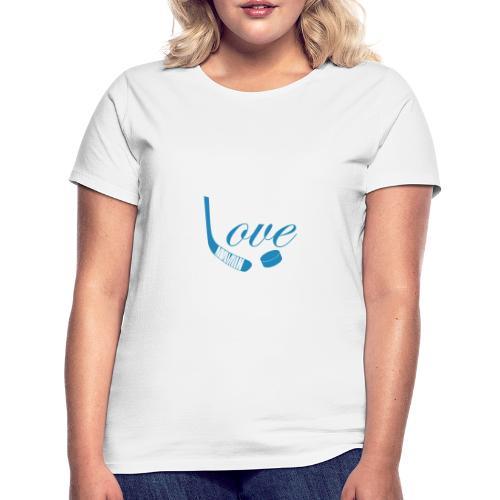 hockey love babyblue - Dame-T-shirt