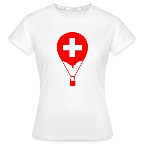 Gasballon im schweizer Design - Frauen T-Shirt