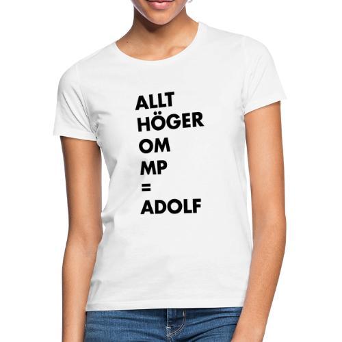 Allt höger om MP = Adolf - T-shirt dam