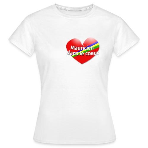 Mauriciens dans le coeur - T-shirt Femme