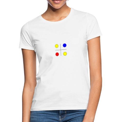 Arte mondrian inspiración colores - Camiseta mujer