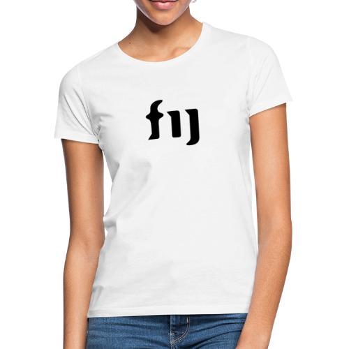 FIJ logo (svart) - T-shirt dam