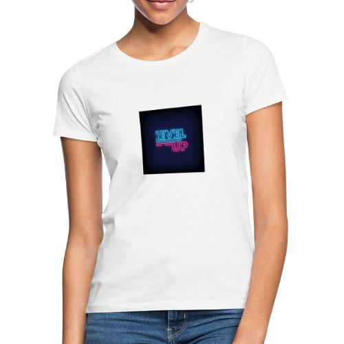 level up neon signboard 118419 1291 - Dame-T-shirt